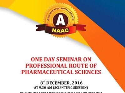 One Day Seminar On Professional Route  Of Pharmaceutical Sciences